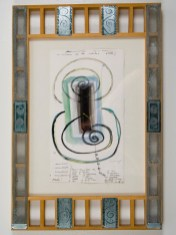"""Elba Damast, """"Estudio 58,"""" 1991 Custom frame, acrylic and ink on paper. 69cm X 42cm Collection of the family"""