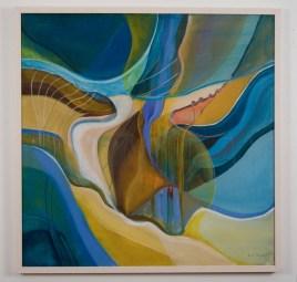 "Elba Damast, ""Through the Dark,"" 1972 30(cm) X 30(cm) Collection of Family"