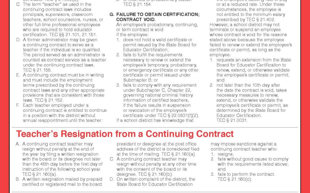 Continuing Contract Guide