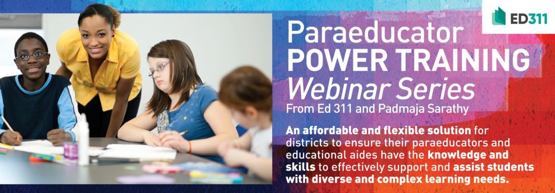 Watch Our New Paraeducator Webinar Now!