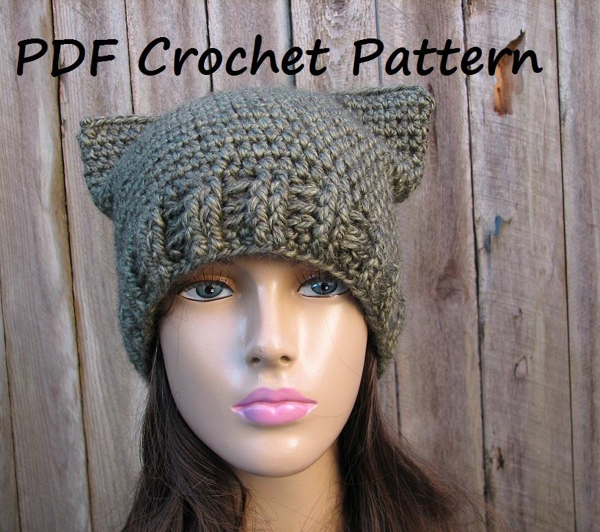 Pattern Crochet Kitty Hat