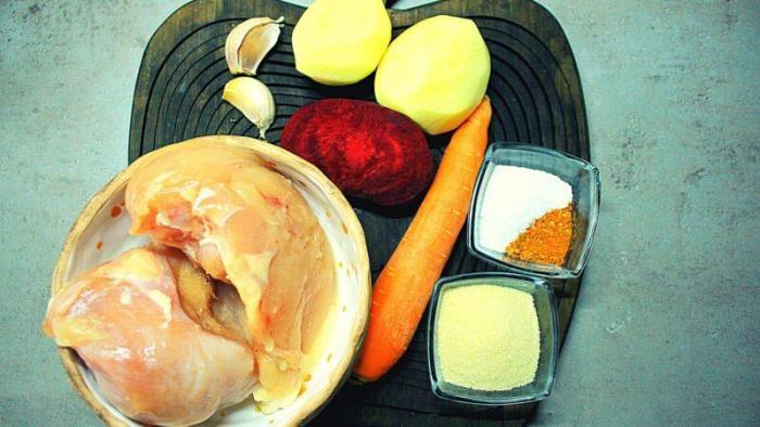 Продукты для куриной колбасы