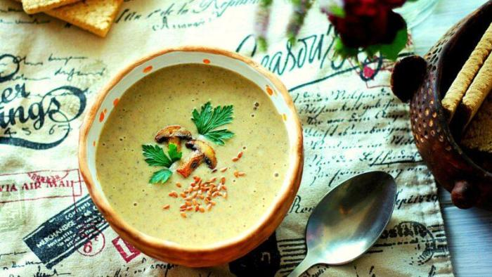 Грибной суп пюре из шампиньонов рецепт.