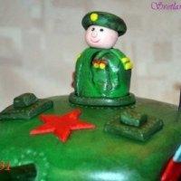 """Как сделать торт """"Танк"""" из кондитерской  мастики (МК)"""