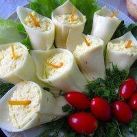 """Закуска """"Каллы"""" с куриным филе и шампиньонами"""
