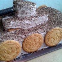 """Творожный торт """"Танк"""" из печенья (без выпечки)"""