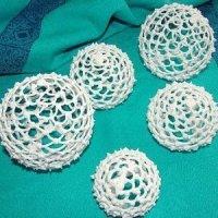 Кружевные съедобные шарики-безе