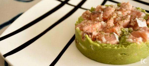 Tartar de salmón y guacamole