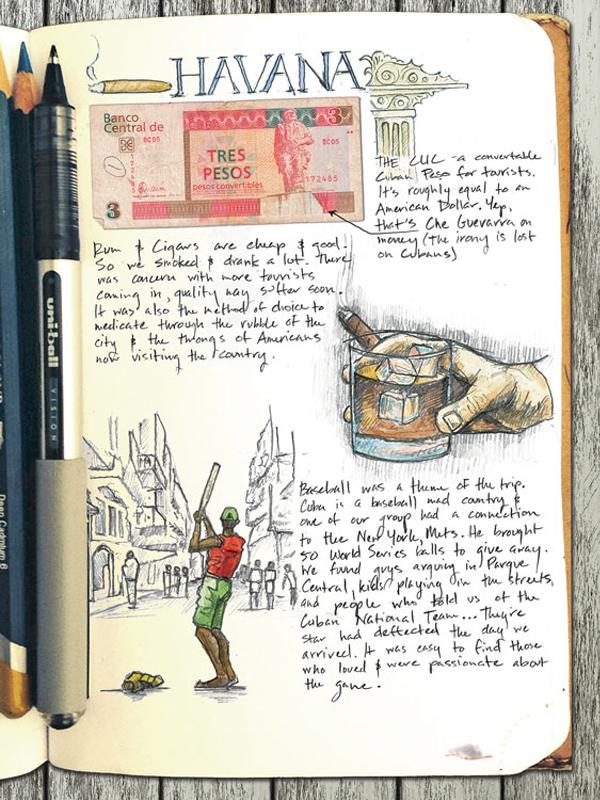 Havana sketchbook page