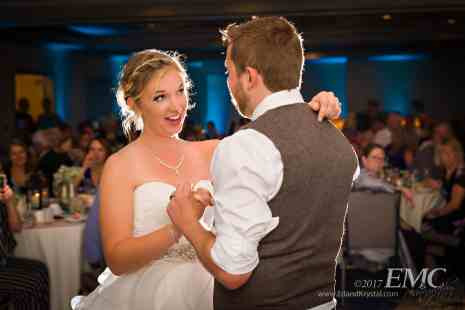 Ashley and Bobby speak with each other during their first dance together