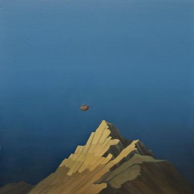 "Tarmo Roosimölder ""Öölendaja"", õli, lõuend, 100x100. 2013"
