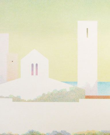 Mare Vint Valge linn I. Esindab kaasaegsemat graafikat, pehmemat ja helgemat toonistikku ja teemat.