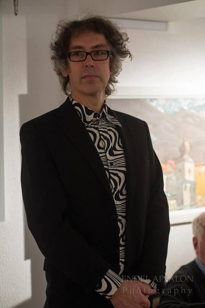Orest Kormašov näituse avamisel Haus Galeriis I Foto: Endel Apsalon