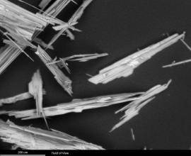 Potassium phosphate crystal needles