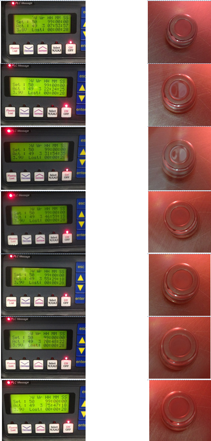 Figure 2: The controller and module at the start and end of each day.