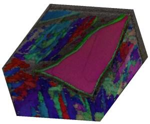 Figure 6 - 3D EBSD data from Gibeon meteorite.
