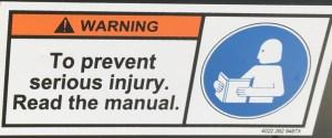 Figure 6: Always Read the Manual!