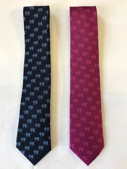 YFYFC Tie available in Blue or Pink