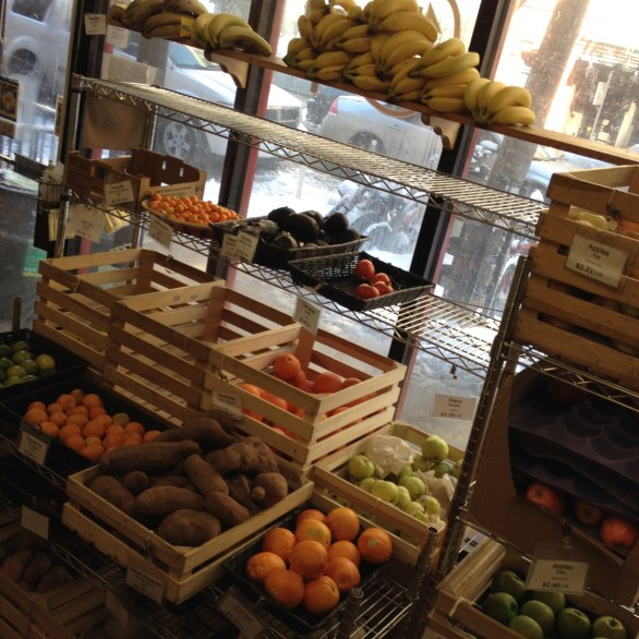 Fruits Available for Daily Purchase at 4th Street Food Co-op, NYC, March 6, 2015, photograph by Emily Rogers.
