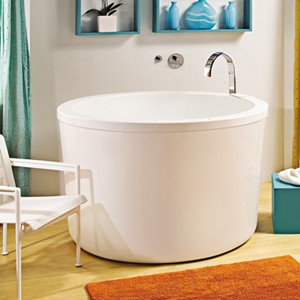 This unobtrusive tub will save space in any bathroom, without stealing the show from the existing decor. $5,500; tubz.com