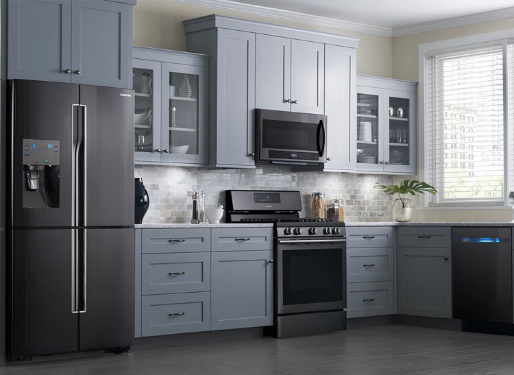 The most popular appliance colors seem to change every few years — remember the days of pastel ovens? — and now polished stainless steel is on the way out, according to Houzz. Instead of gleaming silver appliances, sleek black stainless steel is the trend of the moment.