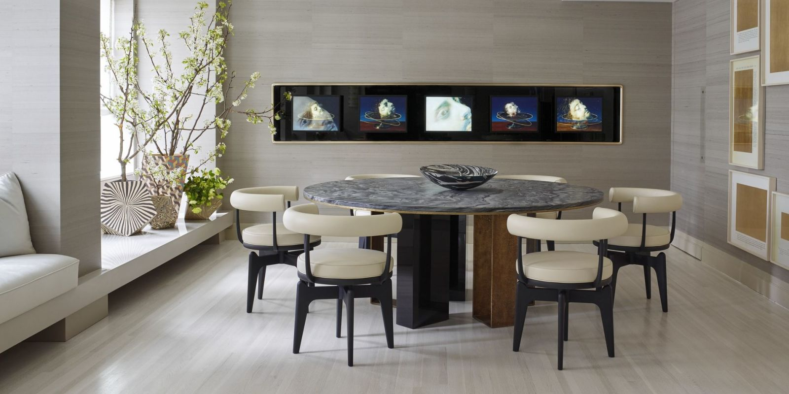 25 Modern Dining Room Decorating Ideas - Contemporary ... on Living Room Wall Sconce Ideas For Dining Area id=53009