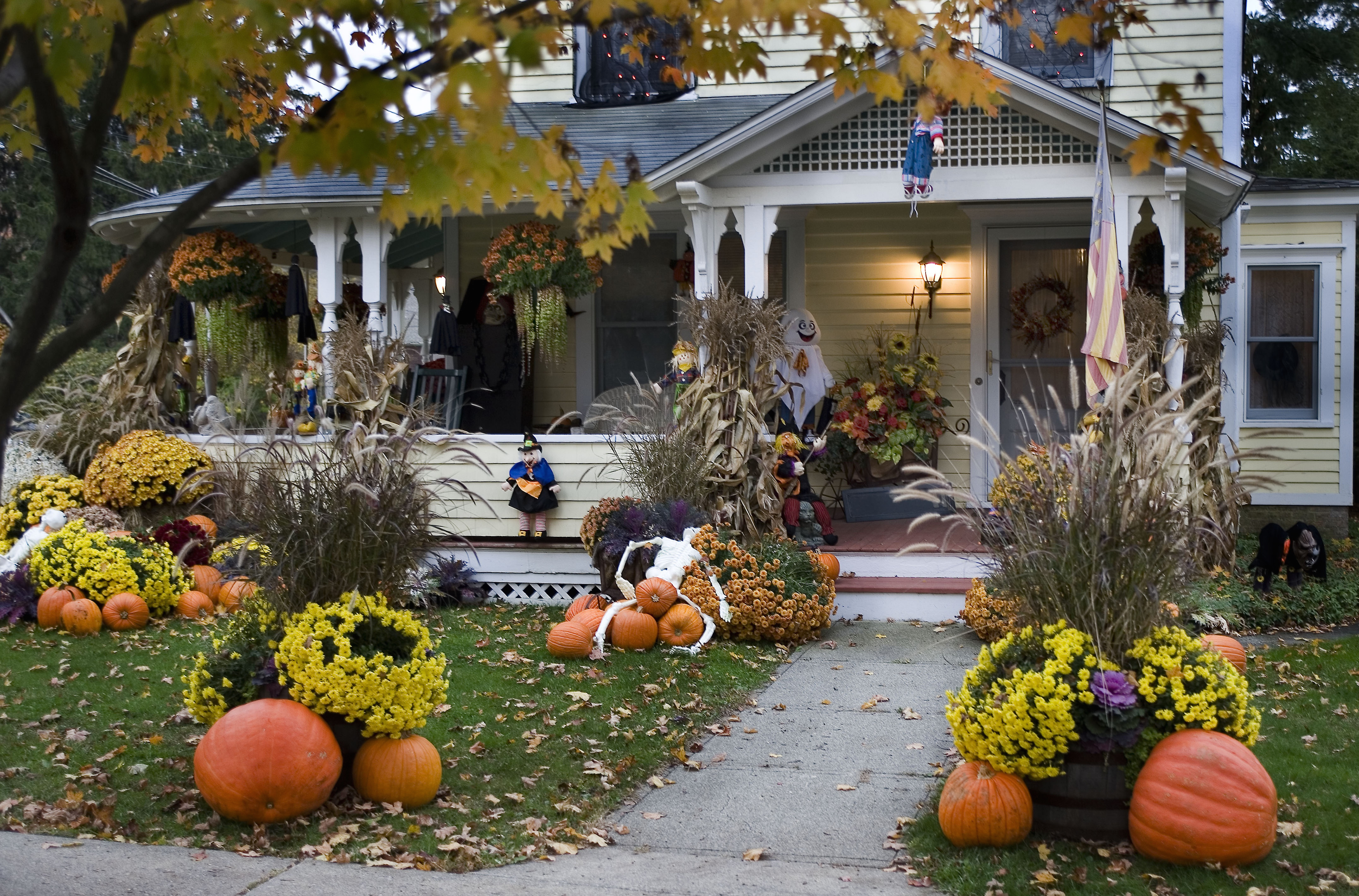 10 Best Outdoor Halloween Decorations - Porch Decor Ideas ... on Patio Decorating Ideas With Lights  id=52341