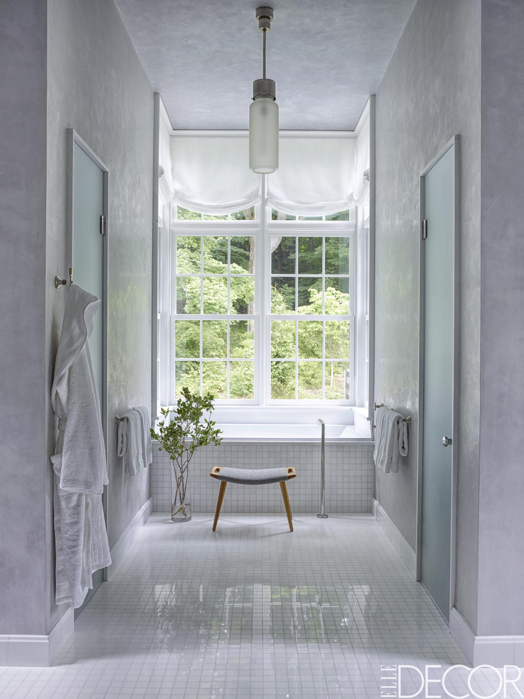 25 White Bathroom Design Ideas - Decorating Tips for All ... on White Bathroom Design Ideas  id=91267