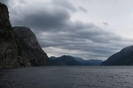 Cruising down Lysefjorden