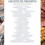28 Gratitude Prompts November