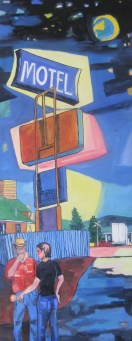"Livingston Motel Series Back, 62"" x 24"""