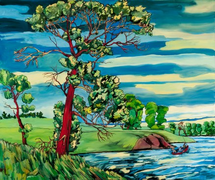 "Cottonwood #173 on River, 2011, 60"" x 72"", with 16% discount $10,880"