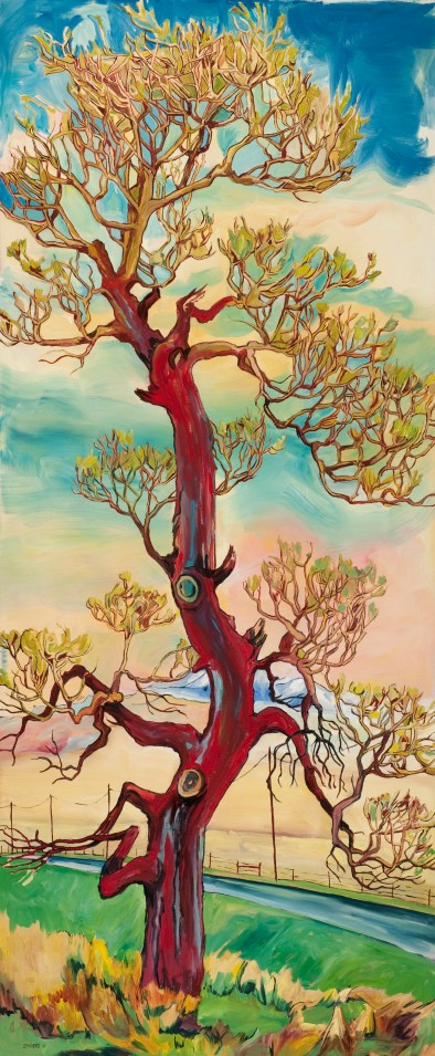 "Cottonwood #181, 2011, 66"" x 30"", with 16% Discount $4,990"
