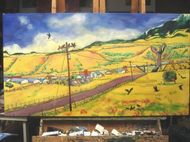 "Swingley Meets Business Park Road, completed. 36"" x 66"", $7,120"