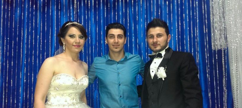 DJ Eddie with Evan & Ranya at their wedding night