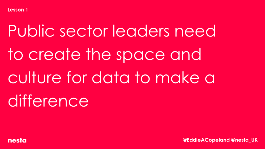 Public sector leaders responsible for making data work