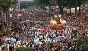 The street procession.