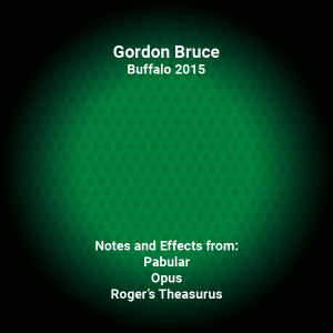 Gordon Bruce Lecture Notes – Buffalo 2015