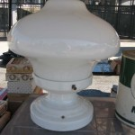 Before After Vintage Porcelain Light Fixture