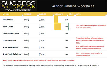 author worksheet