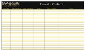 Journalist Contacts List