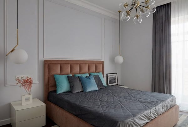 Design bedroom in a modern style. Fashionable bedrooms in ...