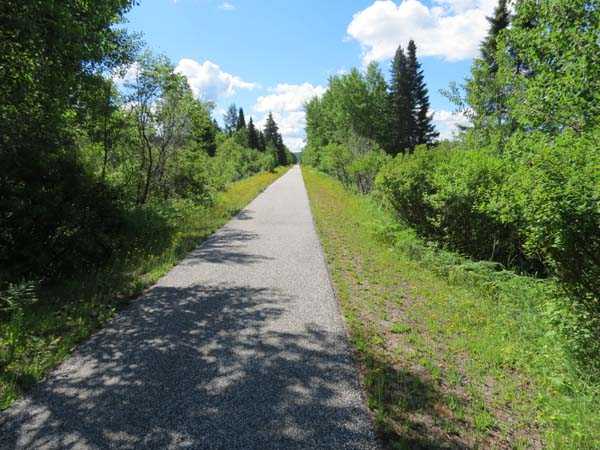 P'tit Train du Nord - Long, Straight Section of the Trail