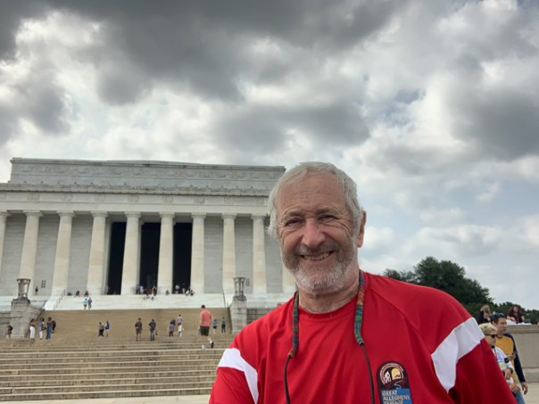 Lincoln Memorial during my arrival in DC on 18 September