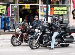 motorcyclists meet in Sturgis, South Dakots