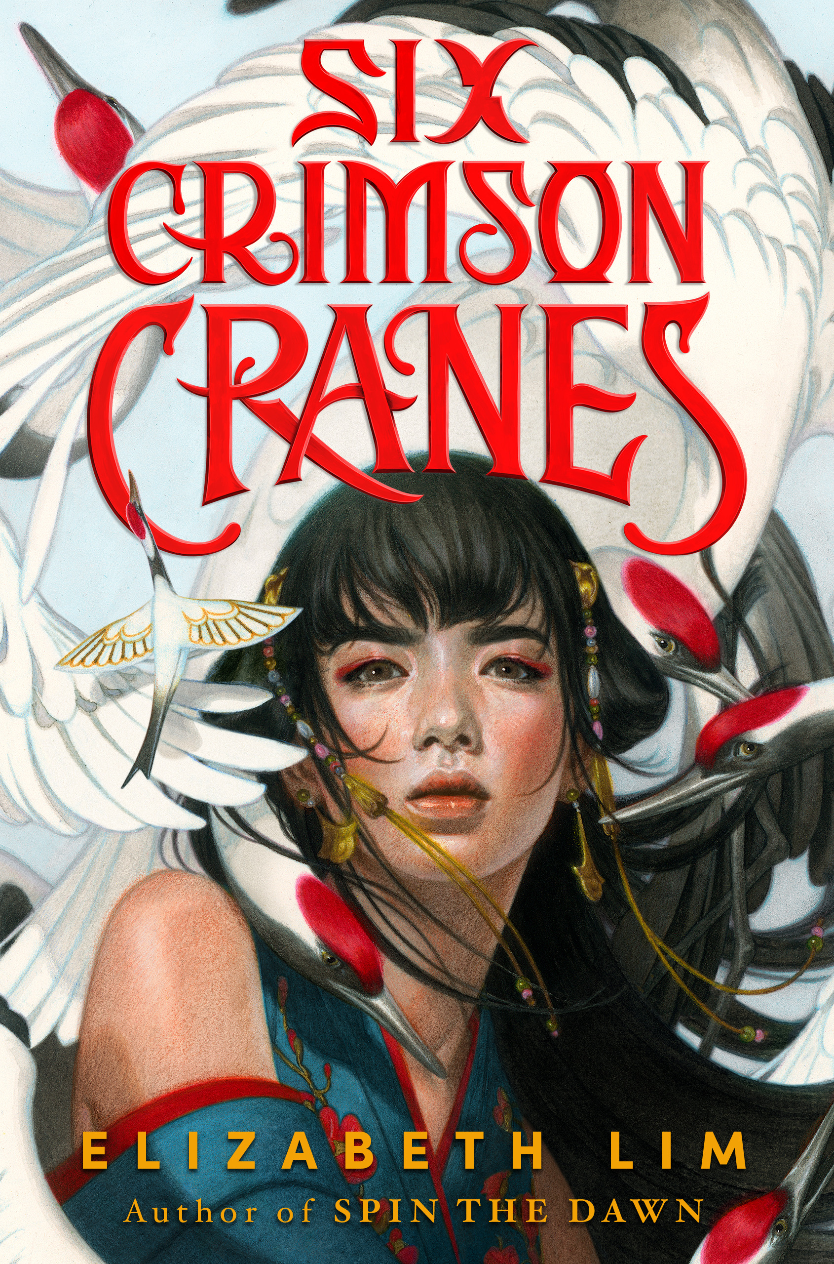Book cover: Six Crimson Cranes by Elizabeth Lim