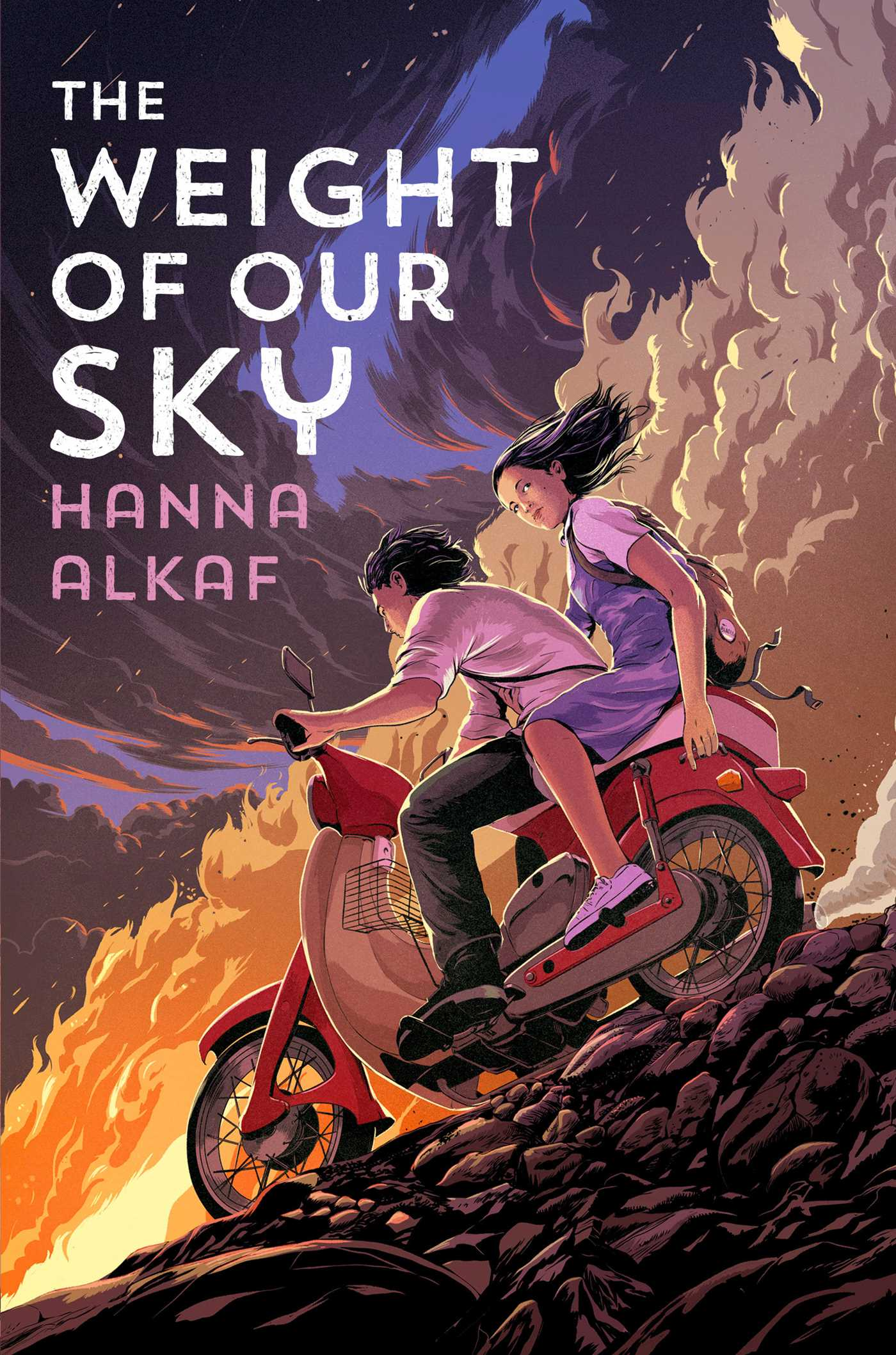 "Book cover of ""The Weight of Our Sky"" by Hanna Alkaf"