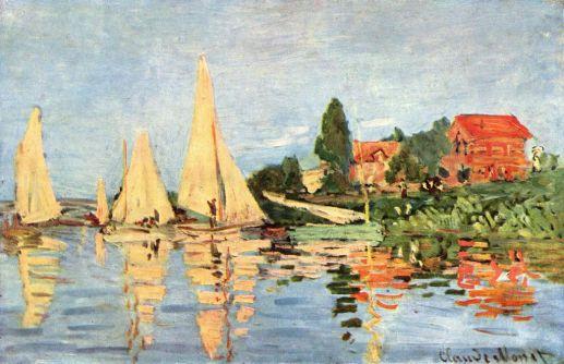 Claude Monet, Regatas de Argenteuil, oleo sobre tela, museo D`Orsay