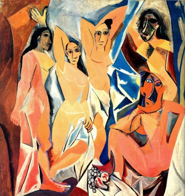 Pablo Picasso, señoritas de Aviñon, 1907.