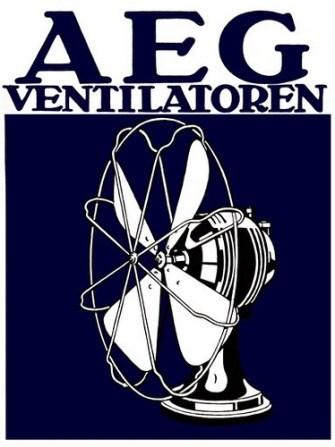 Cartel publicitario de ventilador, Perter Behrens.